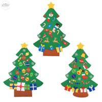 DIY Ornamen Gantungan Pintu dengan Bahan Kain dan Hiasan Pohon Natal