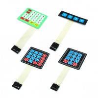 1x2 3 4 5 Tombol Membran Switch 3x4 4x5 Matrix Array Keyboard 1x6