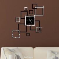 Jam Dinding Model Permukaan Cermin Untuk Dekorasi Ruang Tamu