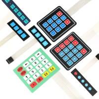 1x4 3x4 4x4 4x5 Tombol Membran Switch 4 12 16 20 Kunci Matrix Array