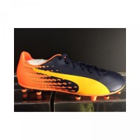 Sepatu bola puma evospeed 17.5 fg orange black original 100 new