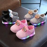 Bayi Balita Bayi Perempuan Laki-laki Lucu Kartun LED Luminous Sepatu