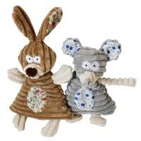 EC 1Pc Mainan Boneka Stuffed Bentuk Binatang Kelinci / Gajah Kecil