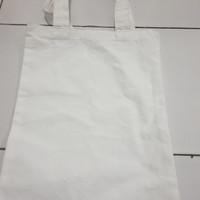 Tote bag Custom Bahan Kanvas/Blacu Free Desain Warna Berkualitas PO - BLACU 27x38 Cm