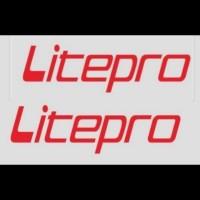 sticker cutting spedah/sepeda logo litepro 1warna uk 15x3cm