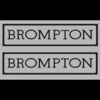 Cutting sticker spedah/sepeda logo Brompton 1 warna uk.3,5x15cm
