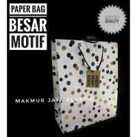 [ POLKADOT PREMIUM ] PAPER BAG XL MOTIF PARTY XL 30 X 40 X 12 CM