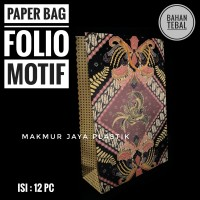[ BATIK TEBAL - 12 ] PAPER BAG FOLIO MOTIF BATIK TEBAL 25 X 35 X 9 CM