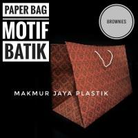 [ BROWNIES BAG - 12 PC ] PAPER BAG BROWNIES MOTIF BATIK