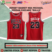 Jersey Basket NBA Swingman Revo Chicago Bulls Michael Jordan Merah #23