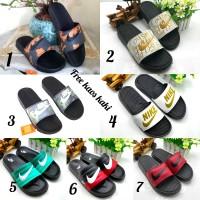 Sandal Nike Slop Original size 39 - 44 sendal pria santai hitam merah