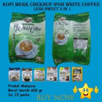KOPI MERK CHEKHUP IPOH WHITE COFFEE LESS SWEET 3 IN 1