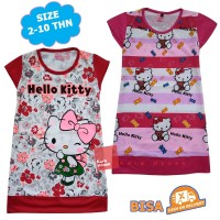 Baju Kaos Atasan T-Shirt Daster Dress Anak Hello Kitty DHKM122517
