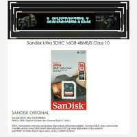 Sandisk Ultra SDHC 16GB 48MBS Class 10-MEmory Kamera SD 16GB