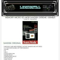 Memory Micro SD 64GB Sandisk EXtreme 100MBS Class 10-HIgh Speed