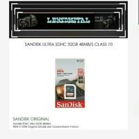 Sandisk Ultra SDHC 32GB 48MBs Class 10-Memory Kamera SD 32GB