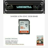Sandisk Ultra SDHC 32GB 80MBs-Memory SD 32GB Speed 80MBs For Camera