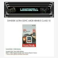 Sandisk Ultra SDHC 64GB 48MBs Class 10-Memory Kamera SD 64GB
