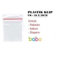 Plastik Klip 20x30 cm   Plastic Clip Seal Ziplock Kantong Pakaian