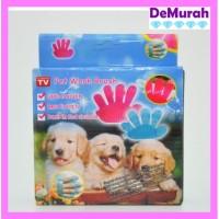 PET BRUSH GLOVE Sarung Tangan Grooming Pet (Anjing/Kucing) Karet