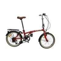 Fingard Sepeda Lipat Vintage 20 Inci - Merah