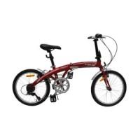 Fingard Sepeda Lipat Commute 20 Inci - Merah