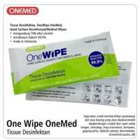 Tissue disinfectant OneWipe / tisu basah alkohol onemed