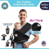 Baby K'tan Baby Carrier Active Black M