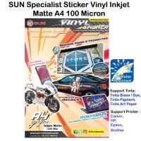 SUN Kertas Sticker Vinyl Inkjet Matte A4 100 Micron