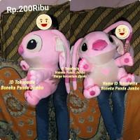 Boneka Stitch pink besar / angel stich jumbo super