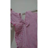 dress anak / atasan anak model sabrina pink
