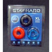 Vivo Stay Hard XLarge Donut Rings 3pc 224417