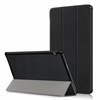Smart Flip Case Huawei Mediapad T5 10.1 - Black Stand Cover Leather