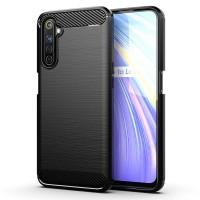 Armor Carbon TPU Case Realme 6 - 6S - Narzo - Casing Black Soft Cover