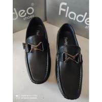 Sepatu Kerja Pria Flatshoes MSM26-2RABCK merk Fladeo