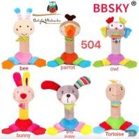 Rattle stick / mainan boneka bayi ada bunyi / mainan edukasi bayi