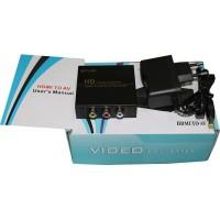 HDMI To RCA AV Konverter box + adaptor For PC - PS3 - VCR -DVD