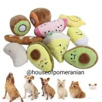 Squeaky chew dog toy mainan gigit kunyah anjing kucing bunyi plush