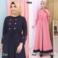 Baju Gamis Wanita Terbaru Gamis Remaja Bahan Babat Kulit Jeruk 017002