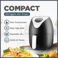 STROGEN Air Fryer Compact 1000 watt / Airfryer Menggoreng Tanpa Minyak