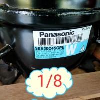 Kompressor kulkas 1/8 PK merk panasonic /compressor kulkas 1/8