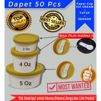 PAPER CUP/GELAS ICE CREAM 5OZ+TTP+SENDOK