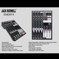 MIXER AUDIO JACK RODWELL ENEMY4 4CH USB,MP3,BLUETOOTH EFFECT REVERB
