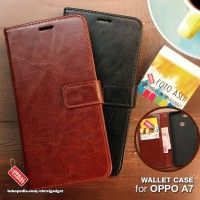 Wallet Leather Flip Case Oppo A5s A7 Flipcase Soft Cover Casing Dompet