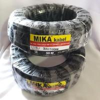 Kabel serabut HITAM 2 x 0,75 MIKA (50 m)