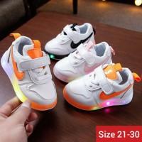 sepatu anak led import Sepatu anak laki laki lampu sneakers led