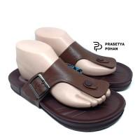 Sandal Pria Anti Air 516 KIN Cokelat - Sendal Casual Pria