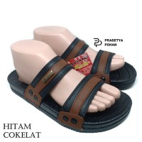 Sandal Pria Anti Air New Era VIII 014 - Sendal Pria Hitam Cokelat