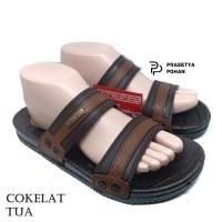 Sandal Pria Anti Air New Era VIII 014 - Sendal Casual Pria Cokelat Tua