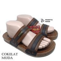 Sandal Pria Anti Air New Era VIII 014 - Sendal Casual Cokelat Muda